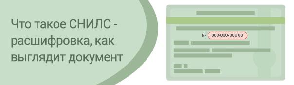 Что такое СНИЛС - расшифровка, как выглядит документ